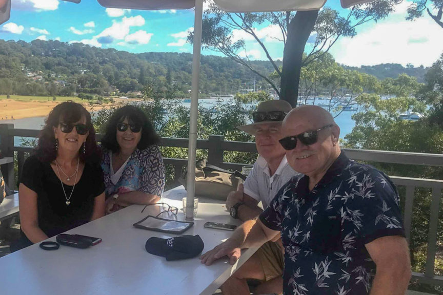 Lunch with great mates at The Newport