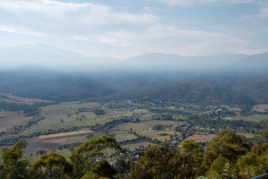 View over Mt Beauty valley