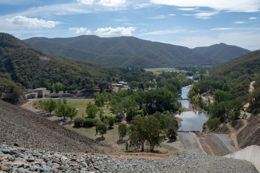 Blowering Dam spillway