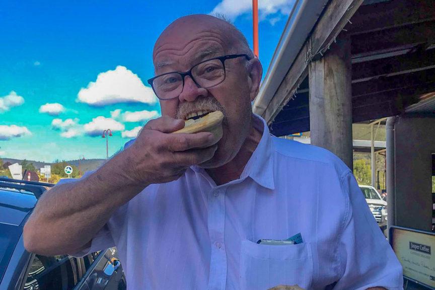 Neil Morri loves a pie