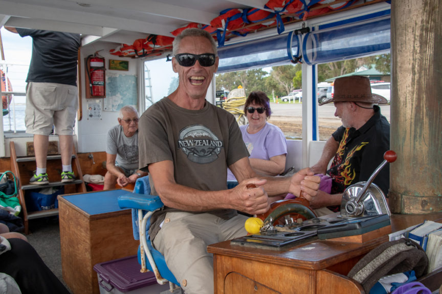 Captain Bernie drives MV Loch Ard