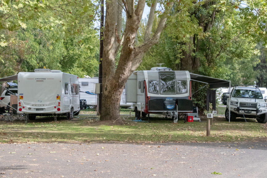 Our Tumut campsite