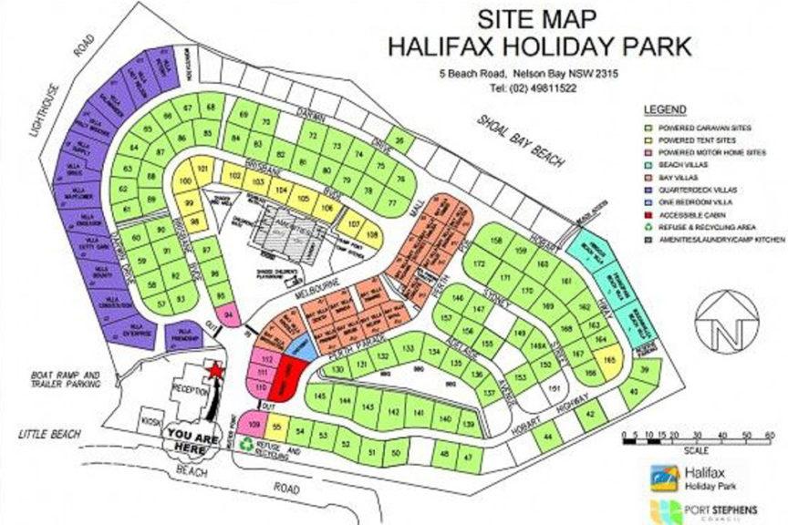 Halifax CP site map